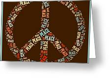 Peace Symbol Retro - 0103b  Greeting Card by Variance Collections