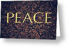 Peace Greeting Card by Tim Gainey
