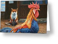 Peaceful Coexistence Greeting Card by James W Johnson