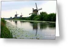 Peaceful Dutch Canal Greeting Card by Carol Groenen