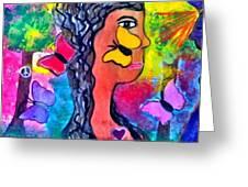 Peaceful Encounter Greeting Card by Ana Julia Fishman