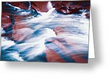 Peaceful Flow Greeting Card by Kellice Swaggerty