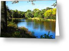 Peaceful Lake Greeting Card by Susan Savad