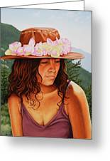 Peaceful Nature Greeting Card by Charles Luna