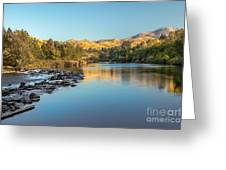 Peaceful River Greeting Card by Robert Bales