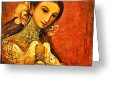 Peaceful Greeting Card by Shijun Munns