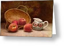 Peaches and Cream Still Life II Greeting Card by Tom Mc Nemar