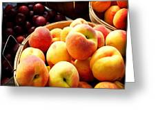 Peaches And Plums Farmers Market Greeting Card by Julie Palencia