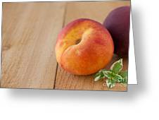 Peaches Greeting Card by Kay Pickens