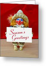 Peaches - Season's Greetings Greeting Card by David Wiles
