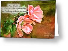 Peachy Keen With Verse  Greeting Card by Debbie Portwood