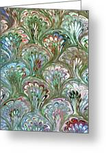 Peacock Shell Pattern Abstract Greeting Card by Karon Melillo DeVega