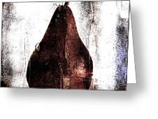 Pear In Window Greeting Card by Carol Leigh
