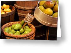 Pears - 15 Cents Per Basket Greeting Card by Christine Till