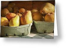 Pears Greeting Card by Caitlyn  Grasso