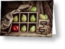 Pears On Display Still Life Greeting Card by Tom Mc Nemar