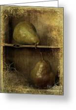 Pears Greeting Card by Priska Wettstein