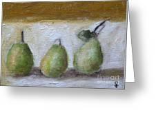 Pears Greeting Card by Venus