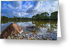 Pebble Beach Greeting Card by Debra and Dave Vanderlaan