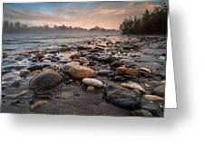 Pebbles Greeting Card by Davorin Mance