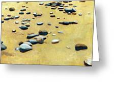 Pebbles On The Beach - Oil Greeting Card by Michelle Calkins