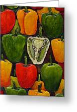 Peck Of Peppers Greeting Card by Linda Carmel