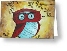 Peekaboo By Madart Greeting Card by Megan Duncanson