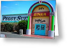 Peggy Sues Diner Yermo California Greeting Card by Robert Ford
