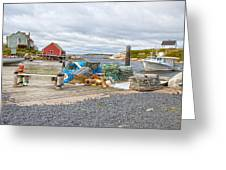 Peggy's Cove 2 Greeting Card by Betsy A  Cutler