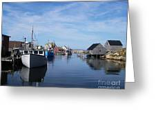 Peggys  Cove Greeting Card by Mel Steinhauer