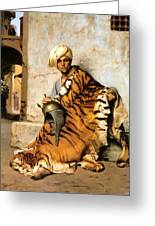 Pelt Merchant  Greeting Card by Jean Leon Gerome