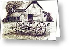 Pen And Ink 8 Greeting Card by Carol Hart