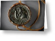 Pendent Wax Seal Of The Council Of Calahorra Greeting Card by RicardMN Photography