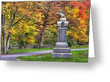 Pennsylvania At Gettysburg - 115th Pa Volunteer Infantry De Trobriand Avenue Autumn Greeting Card by Michael Mazaika
