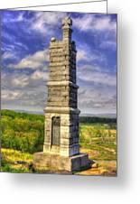 Pennsylvania At Gettysburg - 91st Pa Veteran Volunteer Infantry - Little Round Top Spring Greeting Card by Michael Mazaika