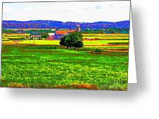 Pennsylvania Farm II Greeting Card by Annie Zeno