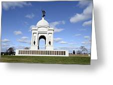 Pennsylvania Memorial At Gettysburg Battlefield Greeting Card by Brendan Reals