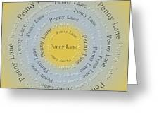 Penny Lane 2 Greeting Card by Andee Design