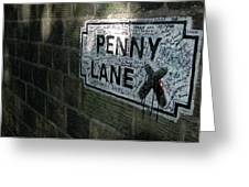 Penny Lane Greeting Card by Jonah  Anderson