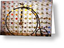 Pennyfarthing Sunsetsegue Greeting Card by Irmari Nacht
