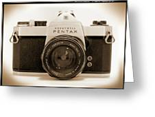Pentax Spotmatic IIa Camera Greeting Card by Mike McGlothlen