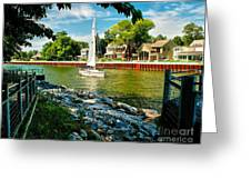Pentwater Channel Michigan Greeting Card by Nick Zelinsky