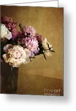 Peonies Greeting Card by Elena Nosyreva