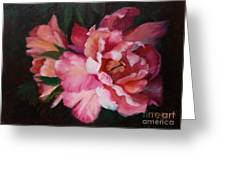 Peonies No 8 The Painting Greeting Card by Marlene Book