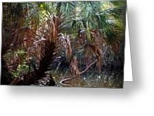 Pepper Creek Palm Greeting Card by Sheri McLeroy