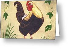 Pepper The Rooster Greeting Card by Linda Mears