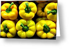 Peppers Greeting Card by Addie Hocynec