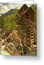 Perched On The Edge Greeting Card by Adam Jewell