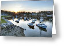 Perkins Cove Greeting Card by Eric Gendron