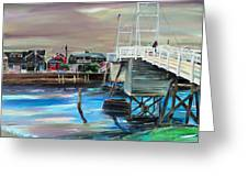 Perkins Cove Maine Greeting Card by Scott Nelson
